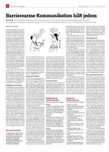 barrierearme Kommunikation in der Medical Tribune